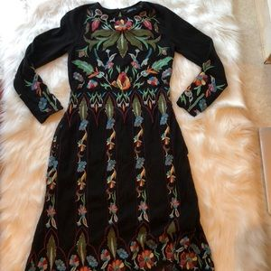 Zara Limited edition embroidered dress
